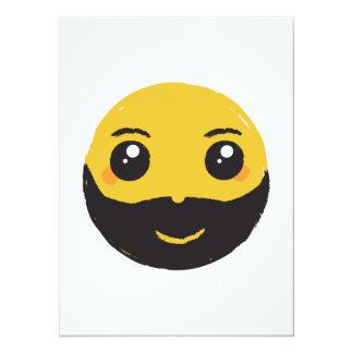 Kawaii smiley, der mit Bart u. dem Schnurrbart Karte