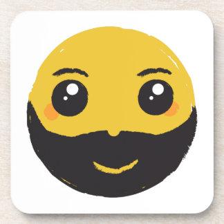 Kawaii smiley, der mit Bart u. dem Schnurrbart Untersetzer