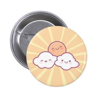 Kawaii Sonnenschein-Knopf Runder Button 5,1 Cm