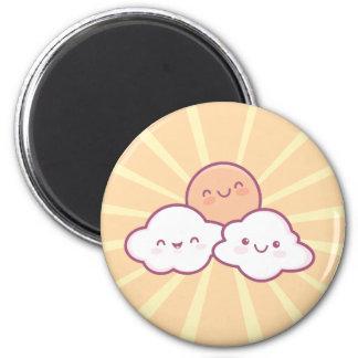 Kawaii Sonnenschein-Magnet Runder Magnet 5,7 Cm