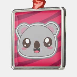 Kawaii, Spaß, lustiges und cooles Koala ornamnet Silbernes Ornament