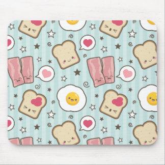 Kawaii Speck u. Spiegelei-Deconstructed Sandwich Mousepad