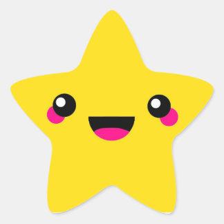 Kawaii Stern Stern-Aufkleber