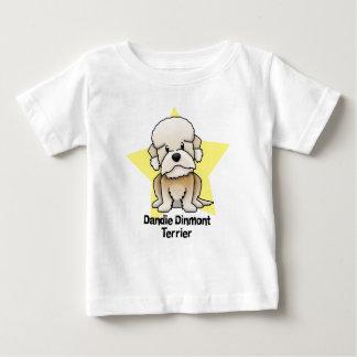 Kawaii Stern-Senf Dandie Dinmont Terrier Baby T-shirt