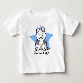 Kawaii Stern-sibirischer Husky Baby T-shirt