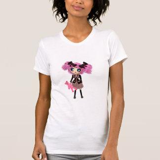 Kawaii Studenten-Mädchen mit PinkyP T-Shirt