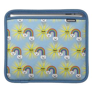 Kawaii Sun Wolken-und Regenbogen-Muster Sleeve Für iPads