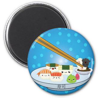 Kawaii Sushi-Servierplatten-Magnet Runder Magnet 5,7 Cm