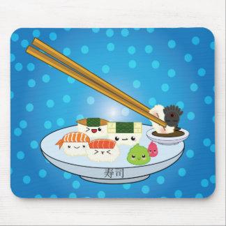 Kawaii Sushi-Servierplatten-Mausunterlage Mousepad