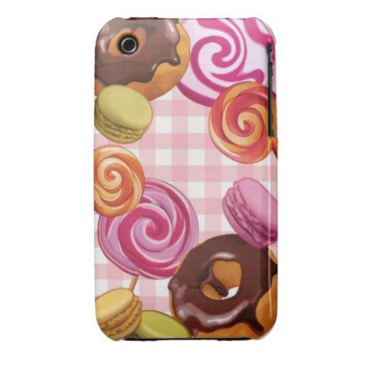 Kawaii Süßigkeit iPhone 3 Case-Mate Hüllen
