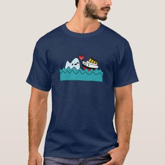 Kawaii titanischer Schiffs-Eisberg-untröstliches T-Shirt