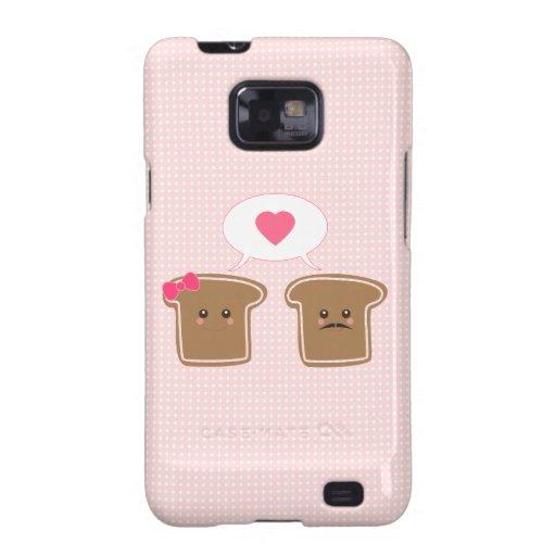 Kawaii Toast-Liebe Galaxy S2 Case