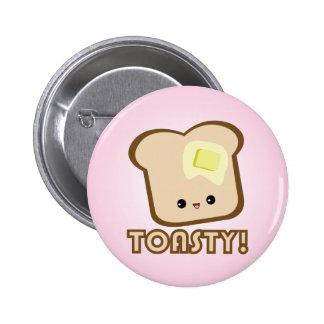 Kawaii Toasty! Toastknopf Anstecknadel
