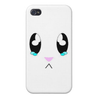 Kawaii trauriges Häschen-Gesicht iPhone 4 Etui