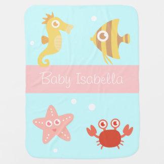 Kawaii Unterwassertiere, für Babys Babydecke