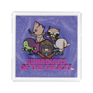 Kawaii Wächter der Galaxie-Strudel-Grafik Acryl Tablett