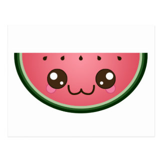 Kawaii Wassermelone Postkarte