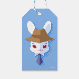 Kawaii weißes Kaninchen-adretter Osterhase Geschenkanhänger