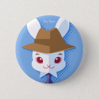 Kawaii weißes Kaninchen-adretter Osterhase Runder Button 5,7 Cm