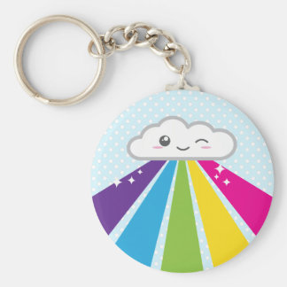 Kawaii Wolke und Regenbogen Keychain Schlüsselanhänger
