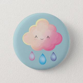 Kawaii Wolken-Button Runder Button 5,7 Cm