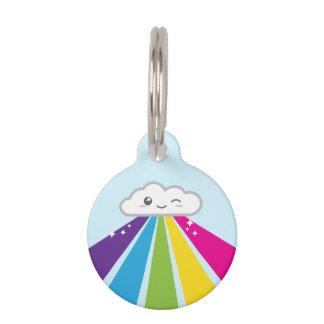 Kawaii Wolken-und Regenbogen-Erkennungsmarke Haustiermarke