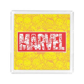 Kawaii Wunder-Logo mit Superheld-Muster Acryl Tablett