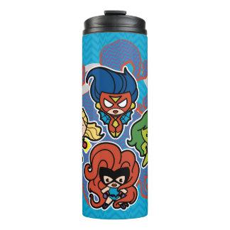 Kawaii Wunder-Superheldinnen Thermosbecher