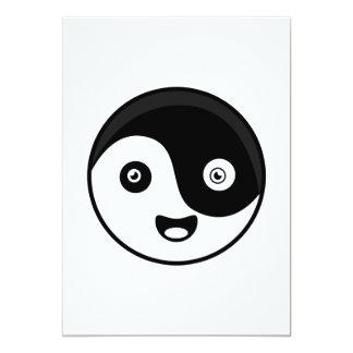 Kawaii Yin Yang 12,7 X 17,8 Cm Einladungskarte
