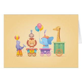 Kawaii Zirkus-Zug Karte