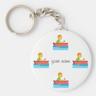 """Kayaking Emoji und '' Ihr Name hier """" Schlüsselanhänger"""