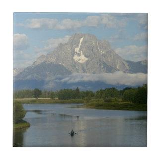 Kayaking in großartigem Teton Nationalpark Fliese