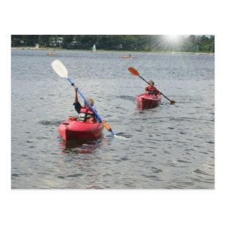 Kayaking Kinderpostkarte Postkarte