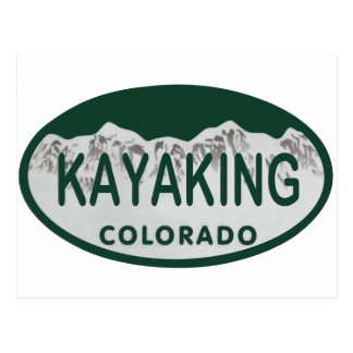 Kayaking Lizenzoval Postkarte