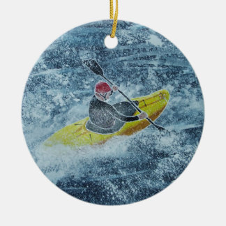 Kayaking Verzierung Keramik Ornament