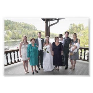 KAYE-HOLDEN HOCHZEIT: LAURIE U. KAYE FAMILIE FOTODRUCK
