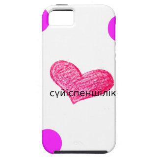 Kazakh-Sprache des Liebe-Entwurfs Hülle Fürs iPhone 5