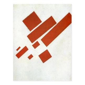 Kazimir Malevich- zweidimensionales Selbstporträt Postkarte