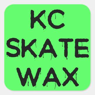 kc-Skatewachs-Logoaufkleber Quadratischer Aufkleber