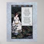 "Keats viktorianisches Kunst Plakat ""La-Schönheits-"