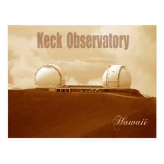 Keck astronomisches Observatorium, Mauna Kea, Postkarte