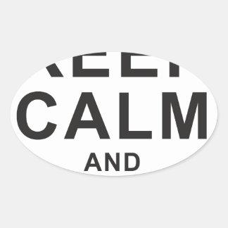 Keep Calm 4x4 Ovaler Aufkleber