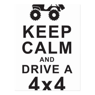 Keep Calm 4x4 Postkarte