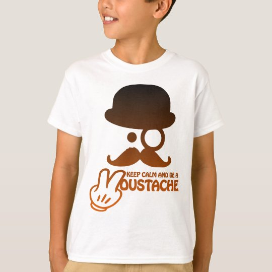 Keep calm and be a Moustache - by www.Codeshirt24. T-Shirt