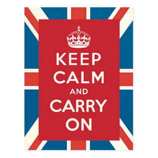 Keep Calm and Carry On Postkarte