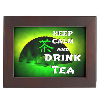 keep calm and drink tea - asia edition - green tea erinnerungsdose