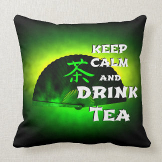 keep calm and drink tea - asia edition - green tea kissen
