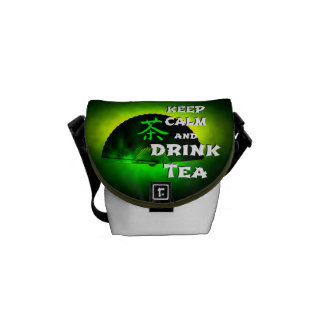 keep calm and drink tea - asia edition - green tea kuriertasche