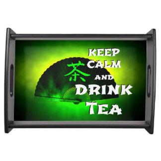 keep calm and drink tea - asia edition - green tea tablett