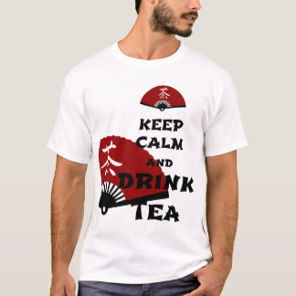 keep calm and drink tea - asia edition T-Shirt